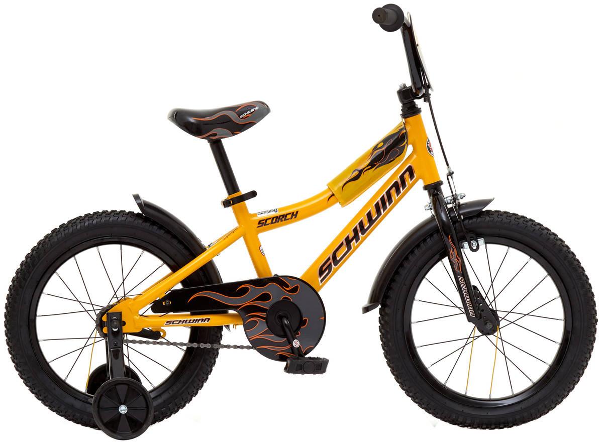 Велосипед детский Schwinn Scorch, колесо 16, цвет: желтый