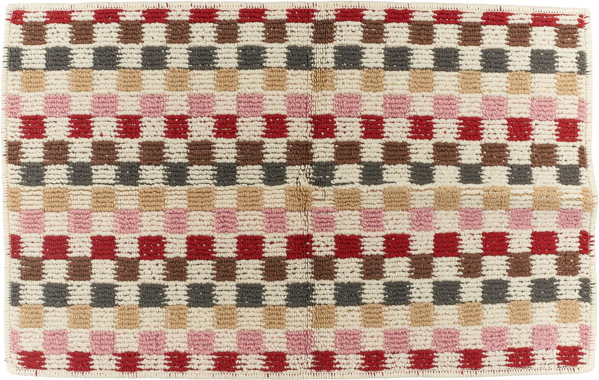 Коврик придверный Vortex Monreal, цвет: серый, коричневый, красный, 38 х 58 см. 22430 коврик придверный vortex влаговпитывающий цвет коричневый 50 см х 80 см