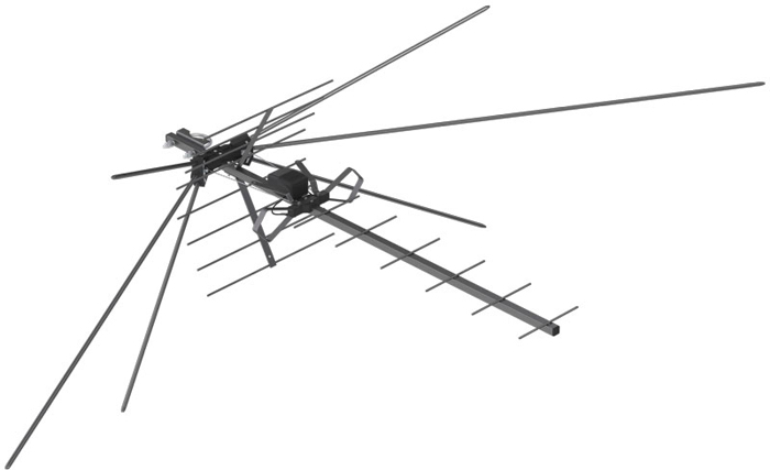 РЭМО BAS-1322-DX Твин Супер, Black сетевая уличная ТВ-антенна (активная) цена и фото