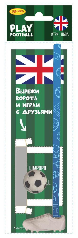 Limpopo Канцелярский набор Play Football Англия 4 предмета530007Канцелярский набор Limpopo Play Football состоит из ластика-бутсы, ластика-мяча, карандаша, игрового поля OPP в пакете с евро подвесом.