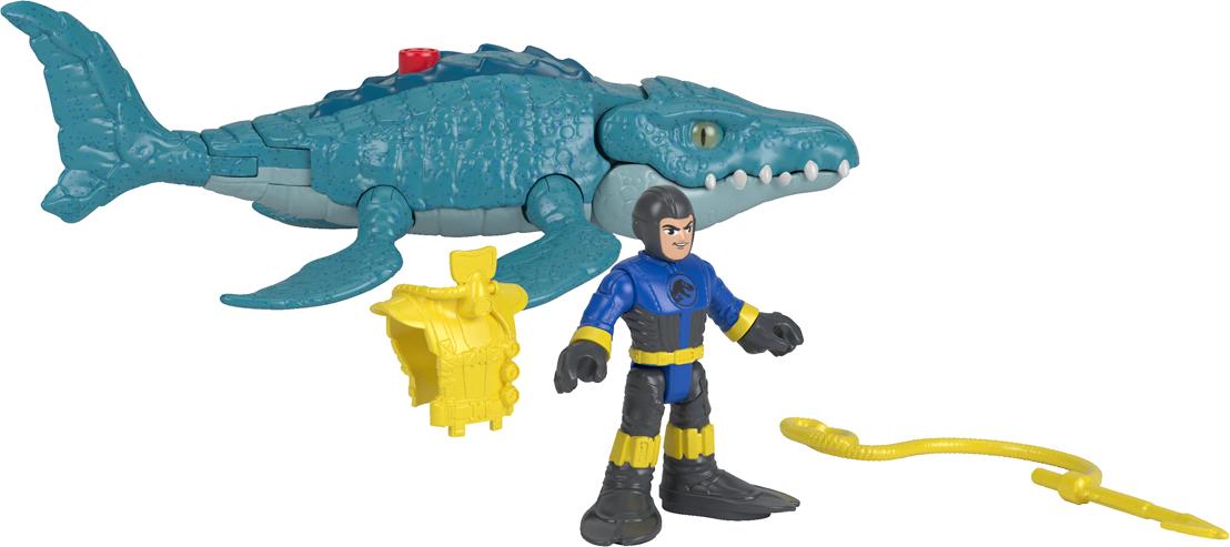 Imaginext Набор фигурок Jurassic World Mosasaurus & Diver imaginext интерактивная игрушка jurassic world гигантский роботизированнй динозавр