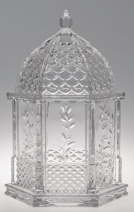 """Шкатулка Crystal Bohemia """"Беседка"""", цвет: прозрачный, 17 x 22,5 x 17 см"""