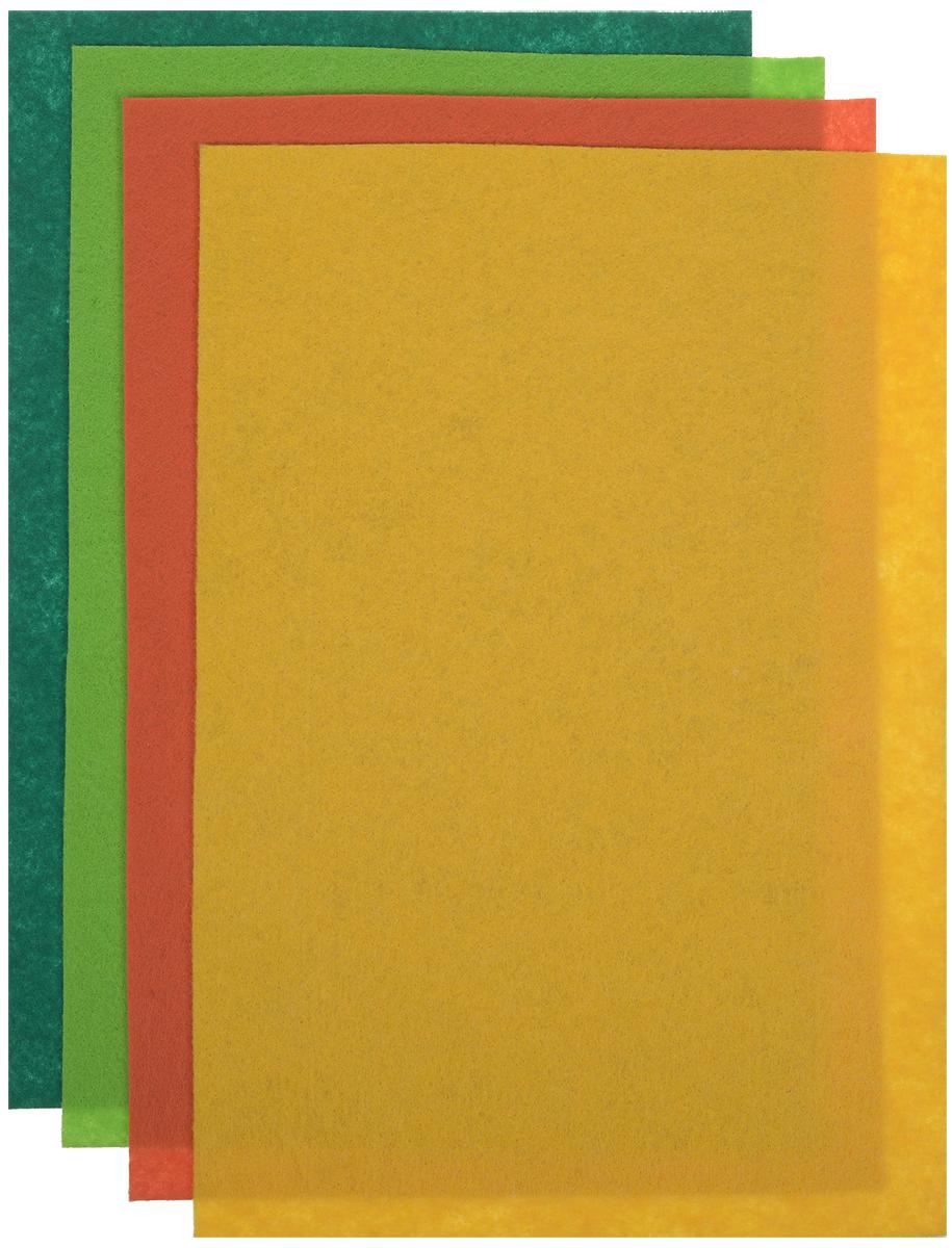 """Фетр листовой Астра """"Ассорти"""", 20 х 30 см, 4 шт. 7715420_6"""