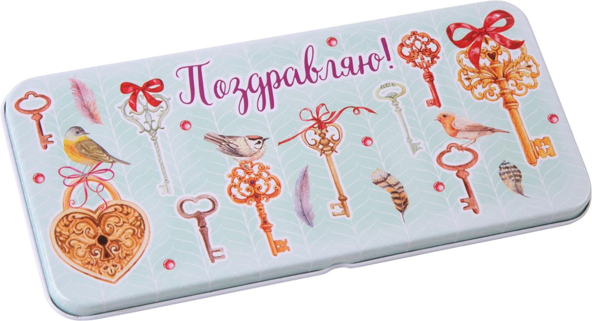Коробочка для денег подарочная Magic Home Ключики. 76351 коробочка для денег подарочная magic time яркие игрушки 76343