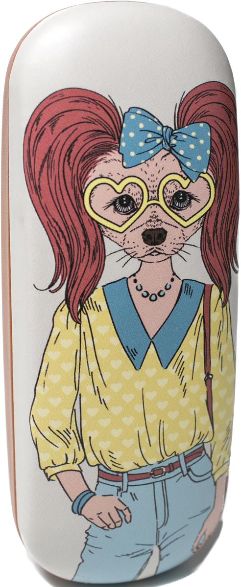 Футляр для очков женский Mitya Veselkov, цвет: коричневый, голубой, желтый. DS-31.1col.8 футляр для очков мужской mitya veselkov цвет белый серый красный ds 31 1col 6
