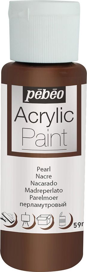 Pebeo Краска акриловая Acrylic Paint перламутровая цвет 097874 шоколад 59 мл