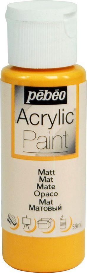 Pebeo Краска акриловая Acrylic Paint матовая цвет 097804 абрикос 59 мл