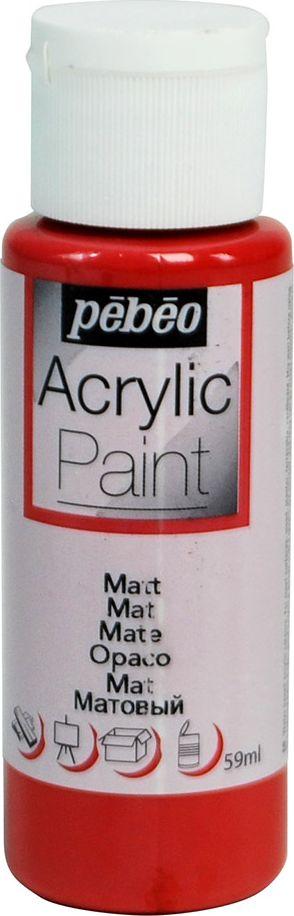 Pebeo Краска акриловая Acrylic Paint матовая цвет 097808 красный кирпич 59 мл