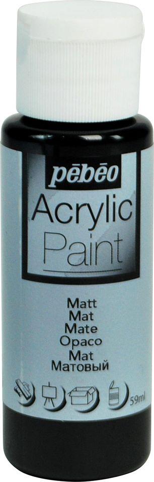 Pebeo Краска акриловая Acrylic Paint матовая цвет 097817 черный 59 мл
