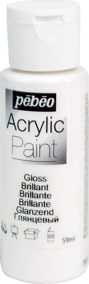 Pebeo Краска акриловая Acrylic Paint глянцевая цвет 097844 белый 59 мл pebeo краска акриловая acrylic paint глянцевая цвет 097860 черный 59 мл