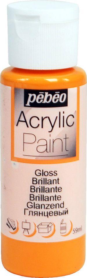 Pebeo Краска акриловая Acrylic Paint глянцевая цвет 097847 оранжевый 59 мл