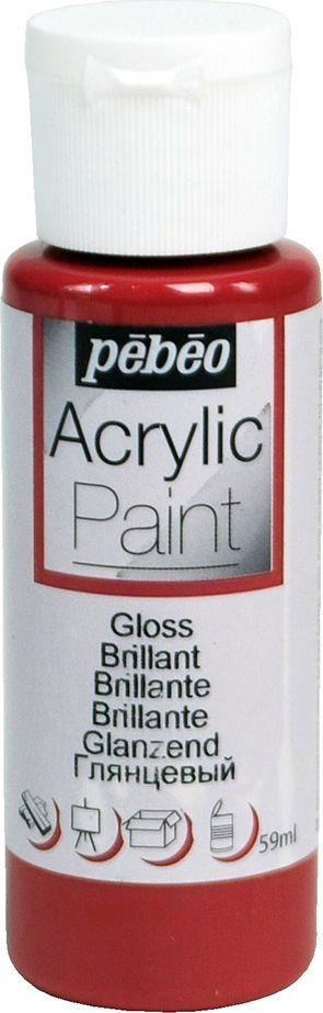 Pebeo Краска акриловая Acrylic Paint глянцевая цвет 097849 бордо 59 мл pebeo краска акриловая acrylic paint глянцевая цвет 097860 черный 59 мл