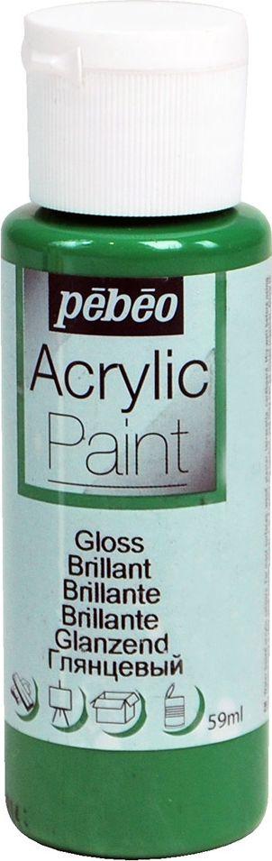 Pebeo Краска акриловая Acrylic Paint глянцевая цвет 097855 зеленый имперский 59 мл