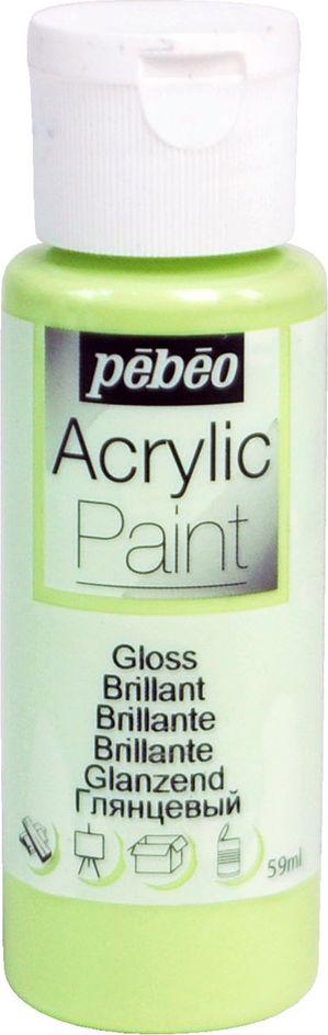 Pebeo Краска акриловая Acrylic Paint глянцевая цвет 097857 зеленый нежный 59 мл