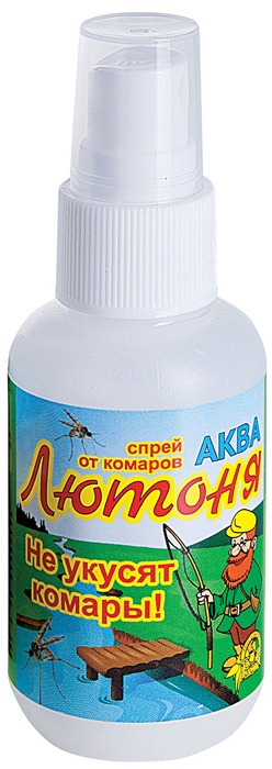 Аква-спрей от комаров Ваше хозяйство Лютоня, для взрослых и детей старше 10 лет, 50 мл комплект ваше хозяйство капут фумигатор жидкость от комаров 30 мл