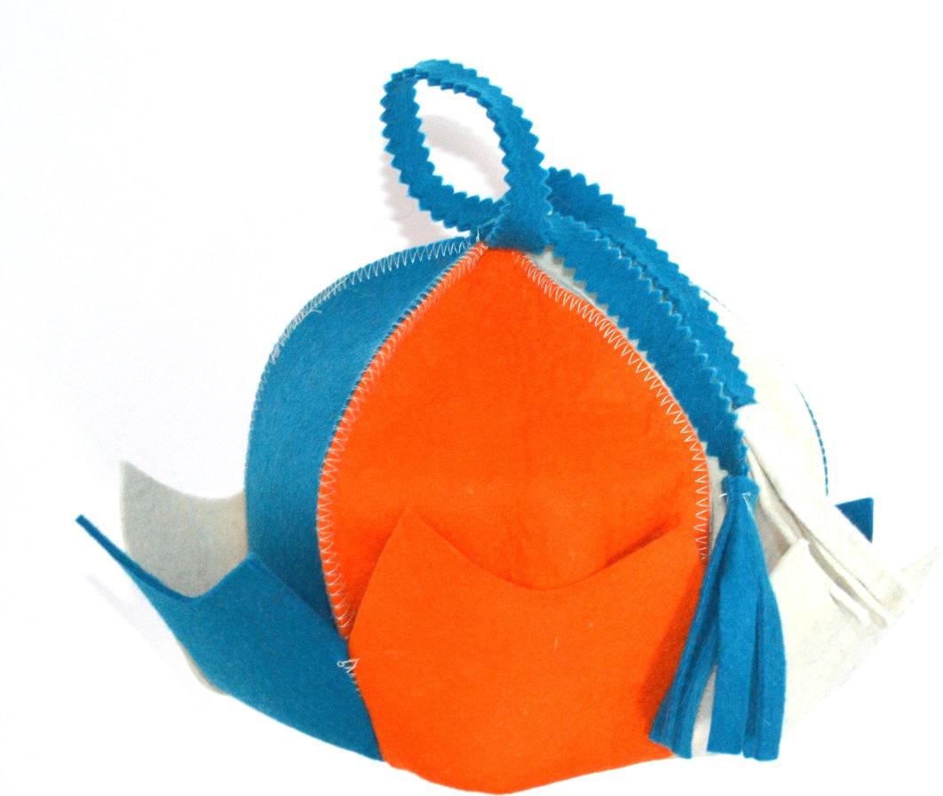 Колпак для сауны Ecology Sauna Королевна, цвет: оранжевый, синий, белый колпак для сауны ecology sauna двухцветный цвет синий белый