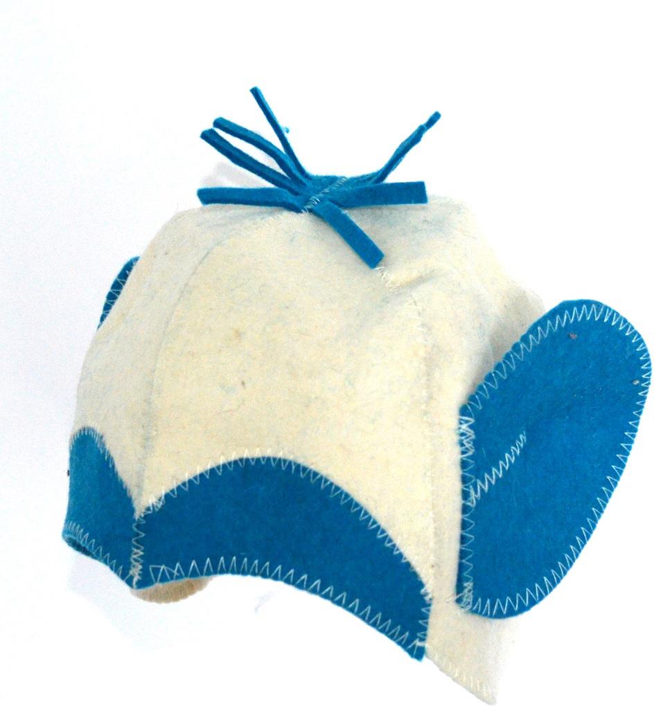 Колпак для сауны Ecology Sauna Обезьянка, цвет: белый, синий колпак для сауны ecology sauna двухцветный цвет синий белый