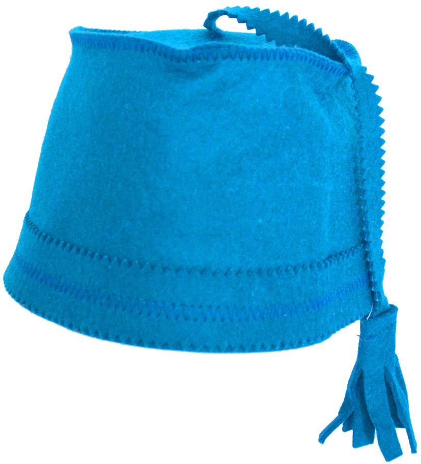 Колпак для сауны Ecology Sauna Феска, цвет: синий колпак для сауны ecology sauna двухцветный цвет синий белый