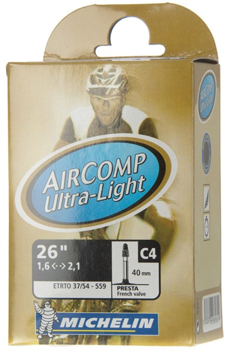 Камера бутиловая Michelin C4 Comp Ultra Light, велониппель, 26x1,4/2,125