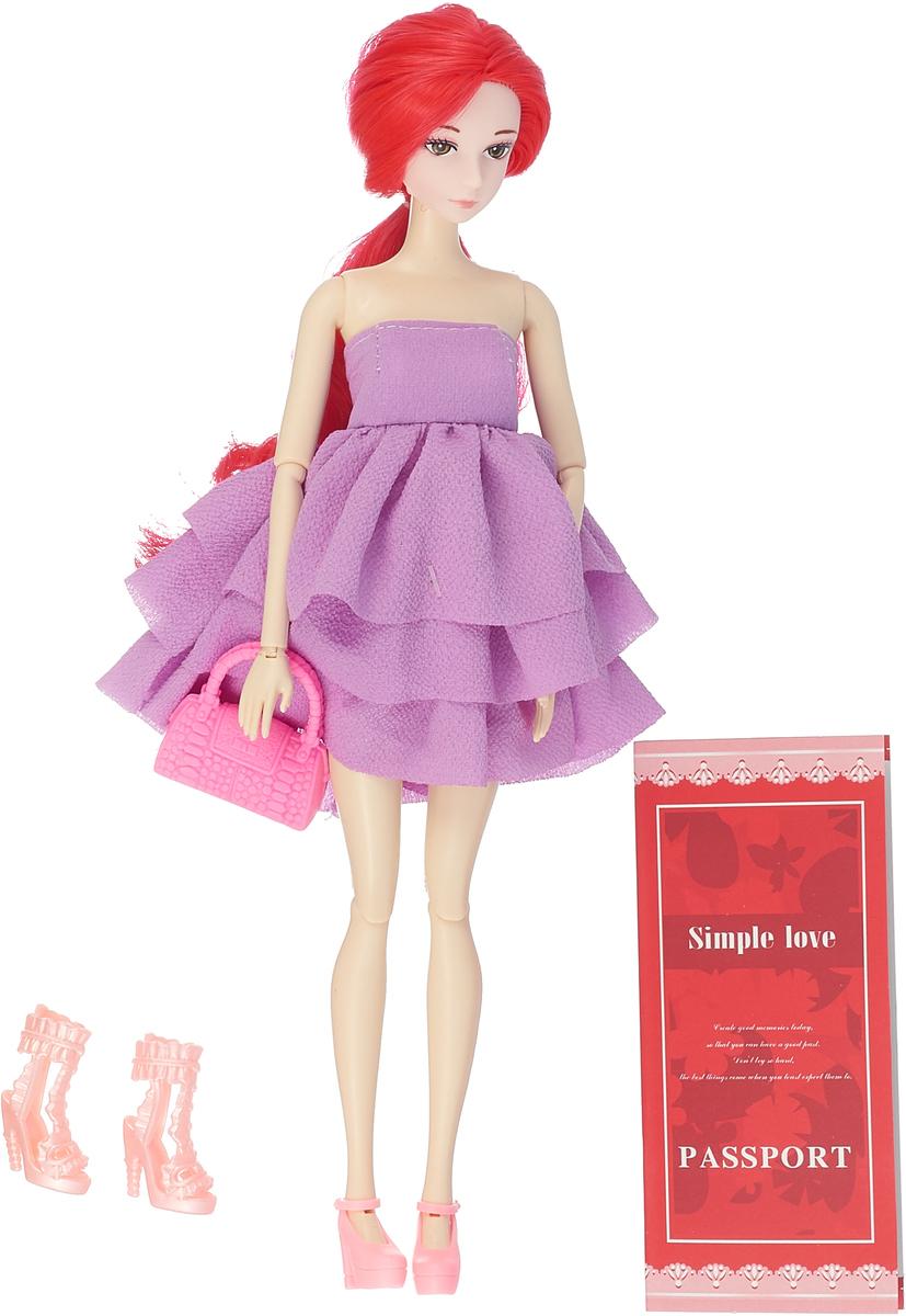 JUNnew Кукла с сумочкой цвет платья сиреневый