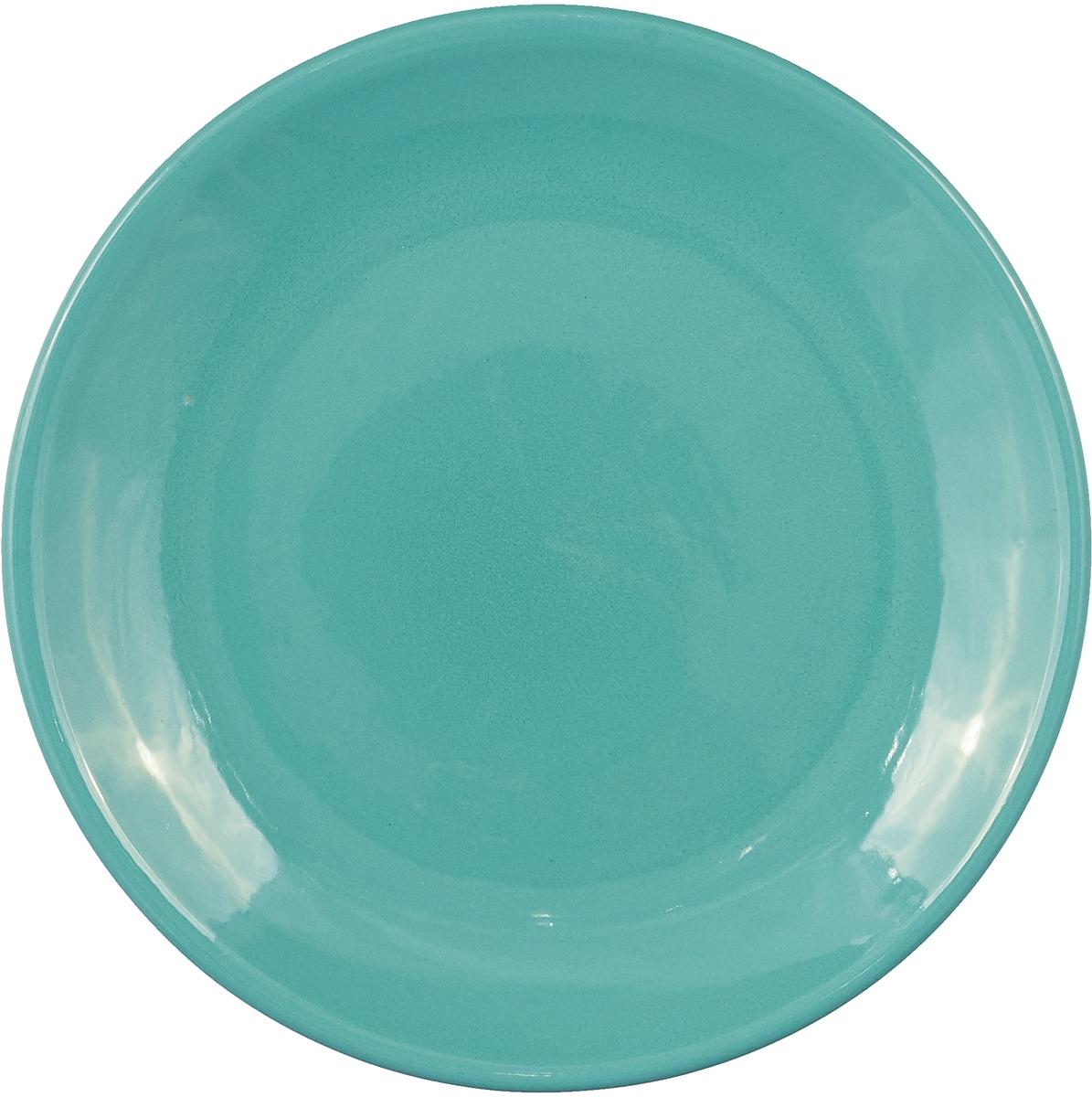 """Тарелка Борисовская керамика """"Радуга"""", цвет: бирюзовый, диаметр 23 см"""