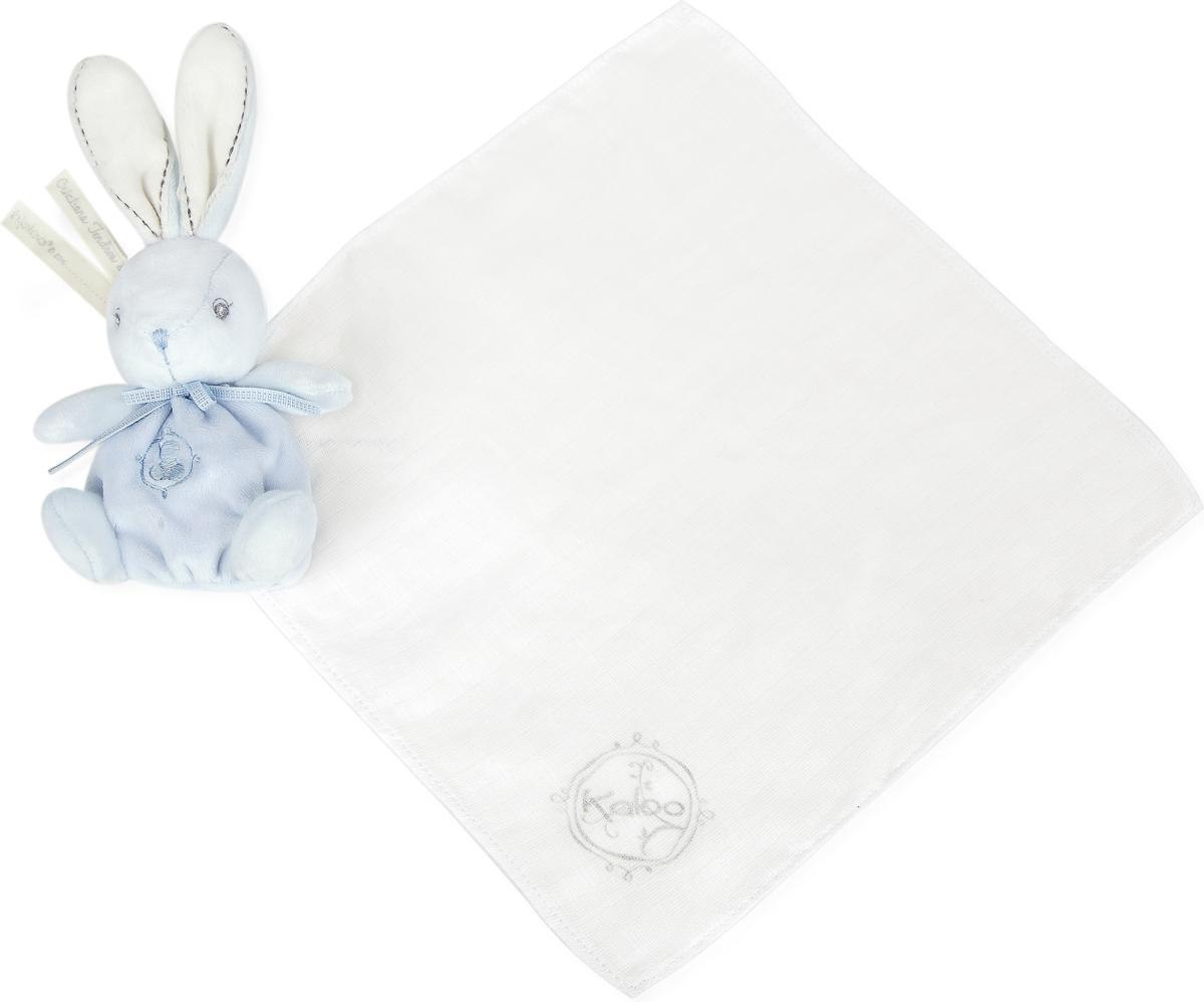Kaloo Игрушка-комфортер Заяц цвет голубой