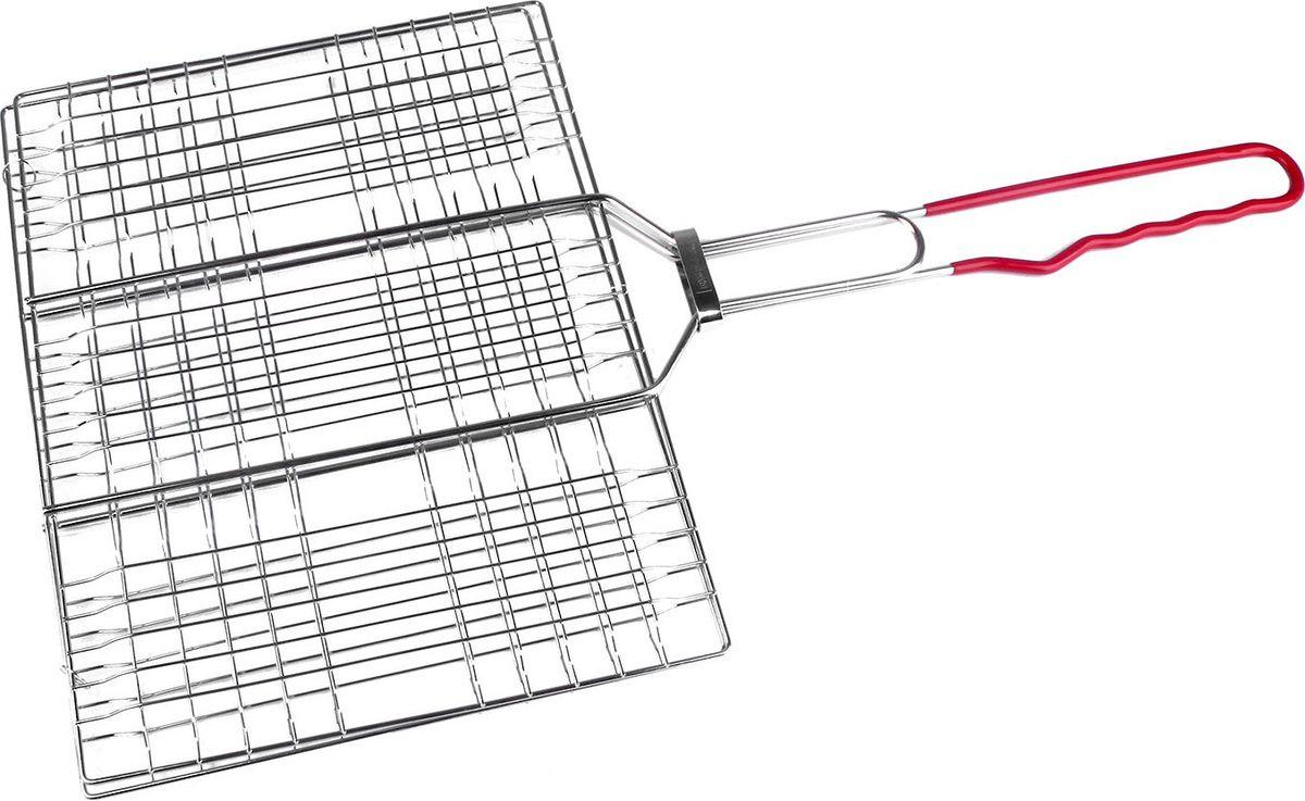 Решетка-гриль Diolex, цвет: серебристый, 32 х 24 см качурина т приготовление блюд из рыбы учебное пособие