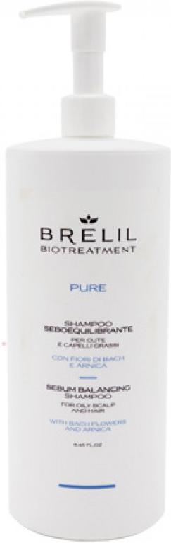 Brelil Bio Traitement Pure Sebum Balancing Shampoo Шампунь для жирных волос, 1000 мл brelil professional масло восстанавливающее для сухих волос bio traitement repair oil 200 мл