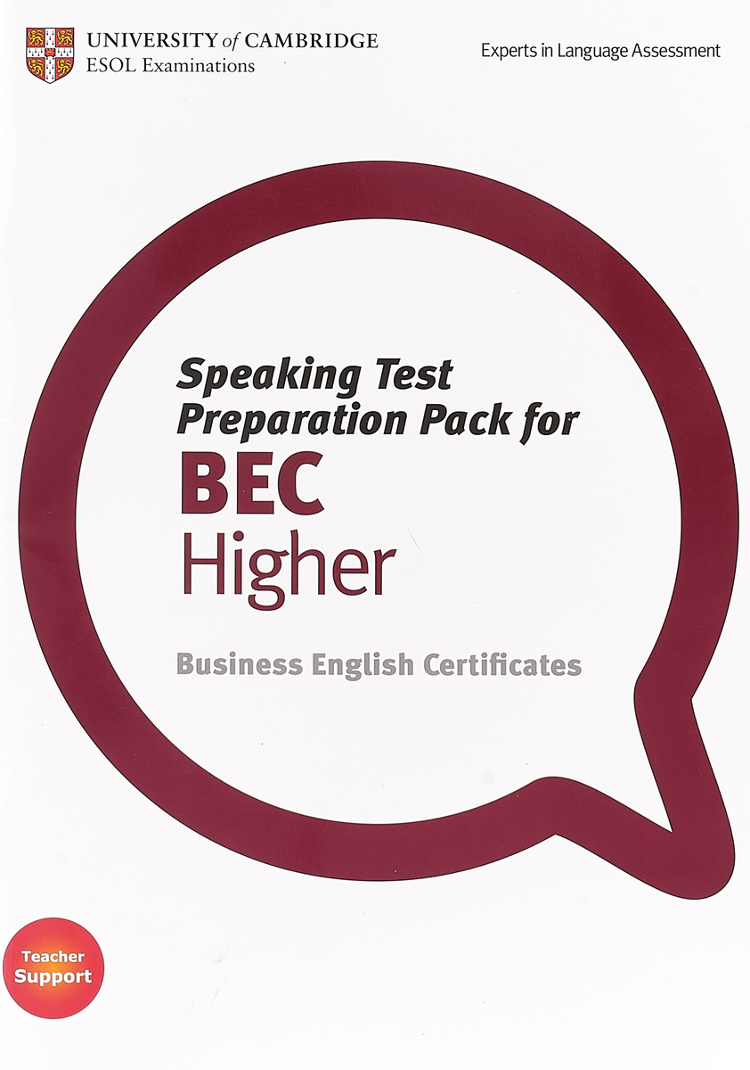 Speaking Test Preparation Pack for BEC Higher Paperback (+ DVD) brook hart g business benchmark advanced higher teacher s resource book