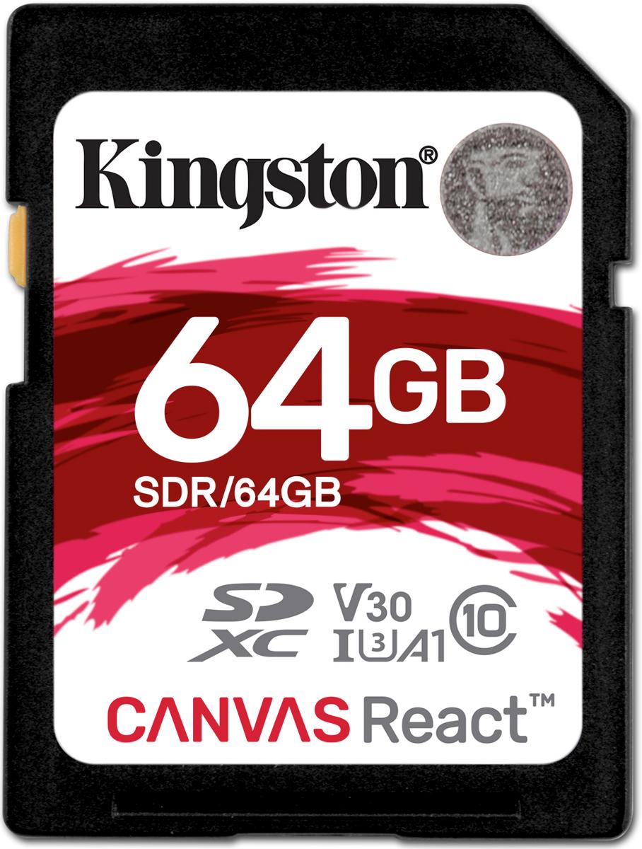 Kingston SDXC Canvas React UHS-I Class U3 64GB карта памяти карта памяти 256 гб
