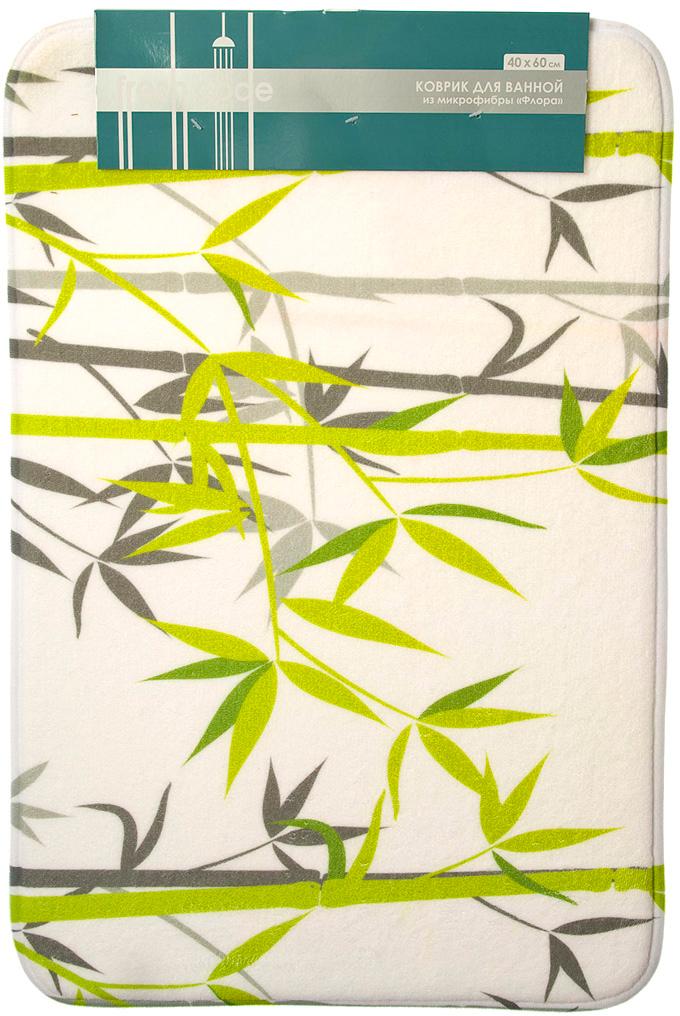 Коврик для ванной Fresh Code Флора, 40 х 60 см коврик для ванной fresh code бамбук 40 х 60 см цвет песочный