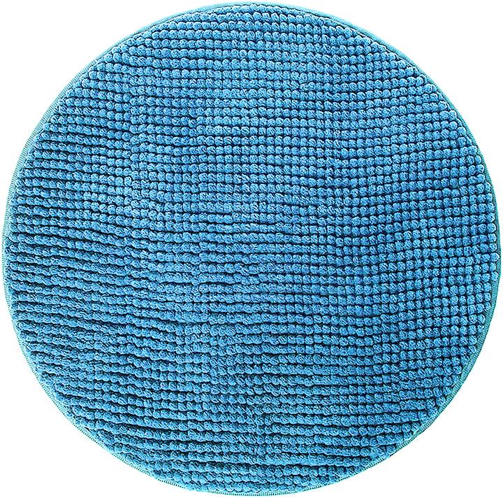 """Коврик для ванной Fresh Code """"Шенилл"""", круглый, цвет: синий, диаметр 50 см"""