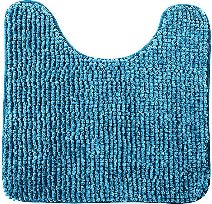 """Коврик для туалета Fresh Code """"Шенилл"""", цвет: синий, 45 х 45 см"""