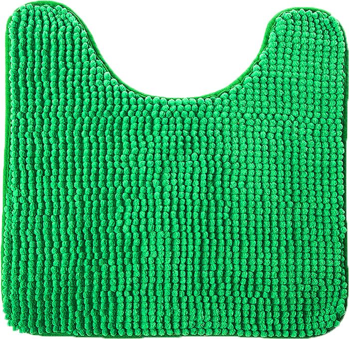 Коврик для туалета Fresh Code Шенилл, цвет: зеленый, 45 х 45 см коврик для душевой кабины fresh code flexy на присосках цвет зеленый 52 см х 52 см