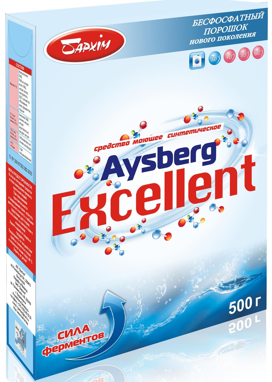 Стиральный порошок Бархiм Средство моющее синтетическое Айсберг. Excellent 500 г, 0.5 моющее средство 1 литр