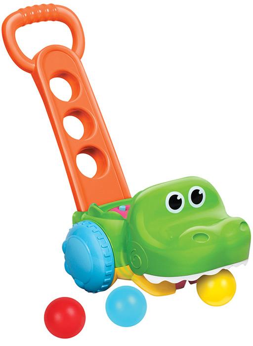 B kids Игрушка-каталка Крокодил с мячиками недорого