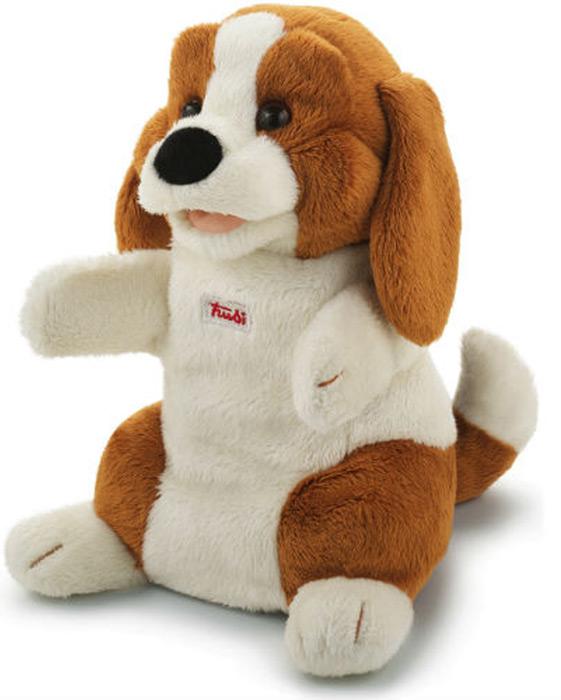 Trudi Мягкая игрушка на руку Собачка 25 см trudi собачка в стиле прованс 25 см trudi