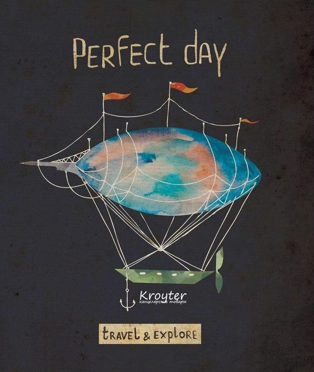 Kroyter Тетрадь общая Perfect Day 48 листов в клетку a perfect day