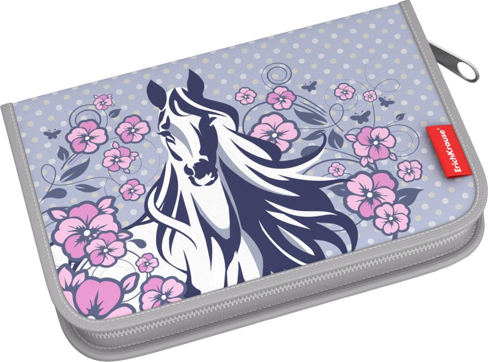 Пенал-книжка ErichKrause White Horse, без наполнения, 13,5 х 20,5 х 3 см пенал книжка erichkrause clever dog без наполнения 13 5 х 20 5 х 3 см