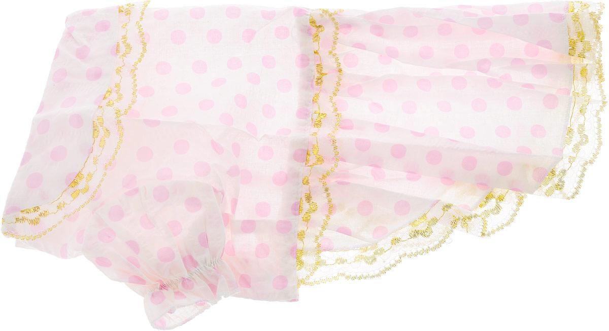 """Платье для собак Каскад """"Цветы"""", цвет: белый, розовый, золотой. Размер L"""