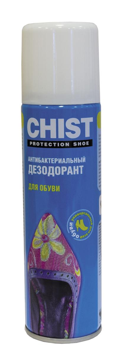 Дезодорант для обуви CHIST, антибактериальный, 150 мл крем краска для обуви chist цвет бесцветный 60 мл