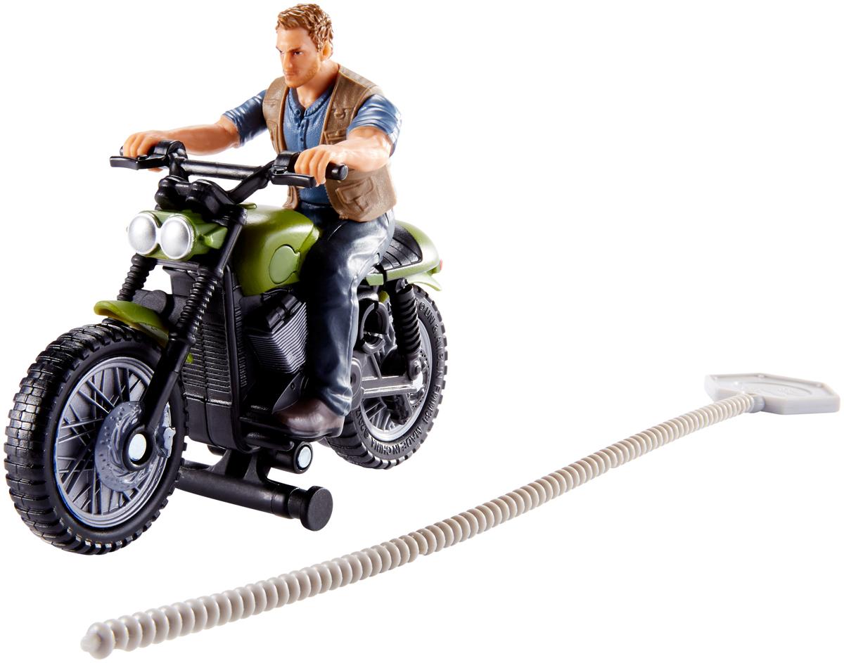 Jurassic World Заводная игрушка Owen & Motorcycle