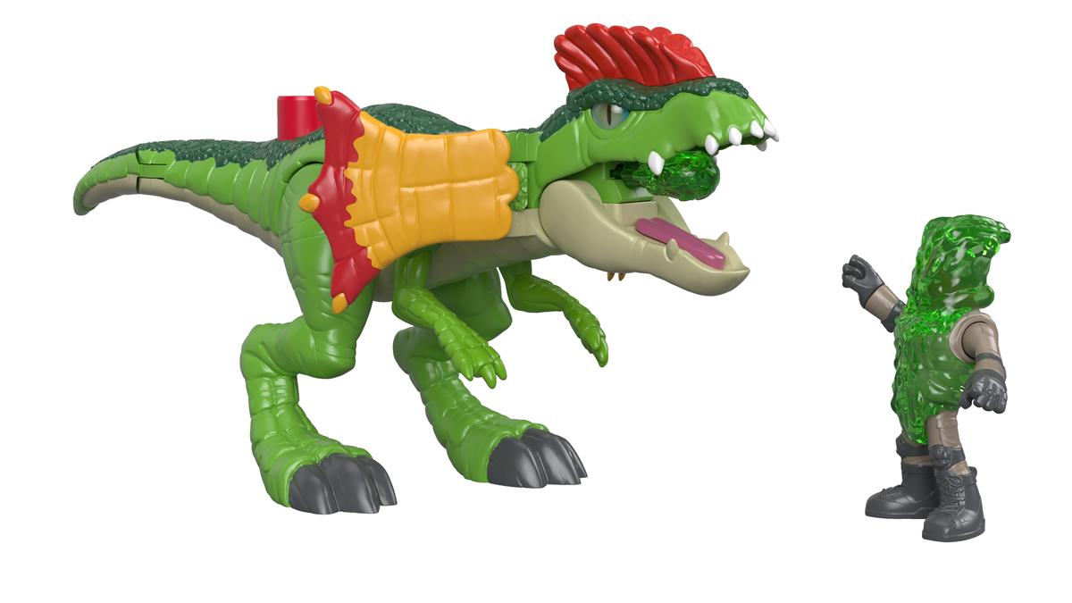 Imaginext Набор фигурок Jurassic World Dilophosaurus & Agent imaginext интерактивная игрушка jurassic world гигантский роботизированнй динозавр
