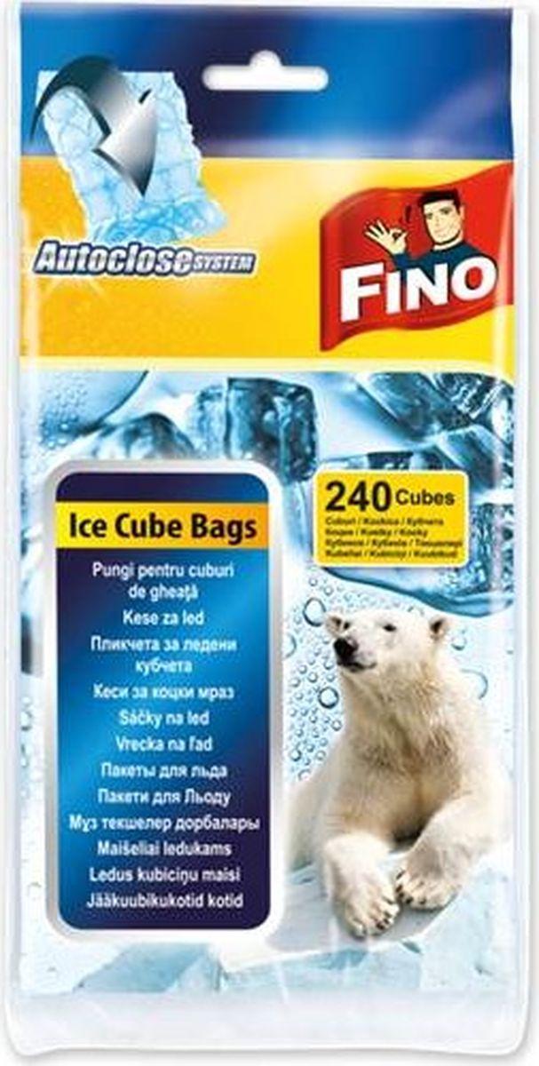 """Пакеты для льда """"Fino"""", самозакрывающиеся, 240 кубиков"""