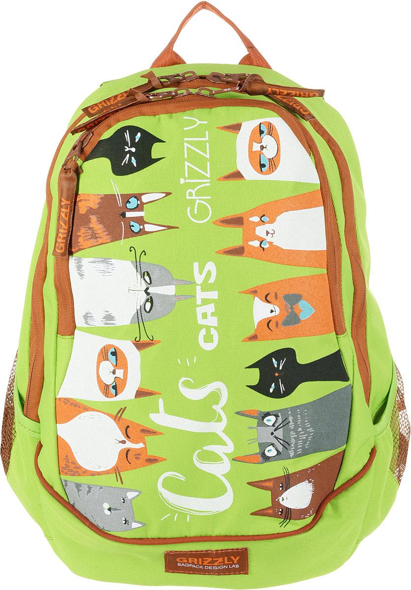 Grizzly Рюкзак цвет салатовый grizzly рюкзак черно салатовый