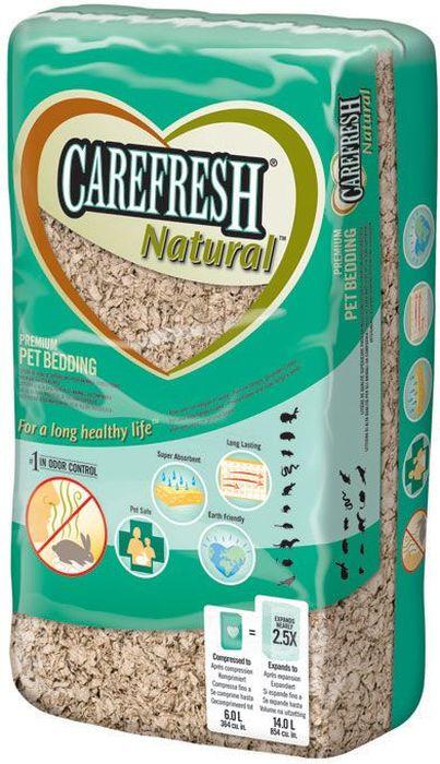 Наполнитель CareFresh Natural, для птиц и мелких домашних животных, натуральный, на бумажной основе, 14 л мартин м руководство по электрокардиографии мелких домашних животных