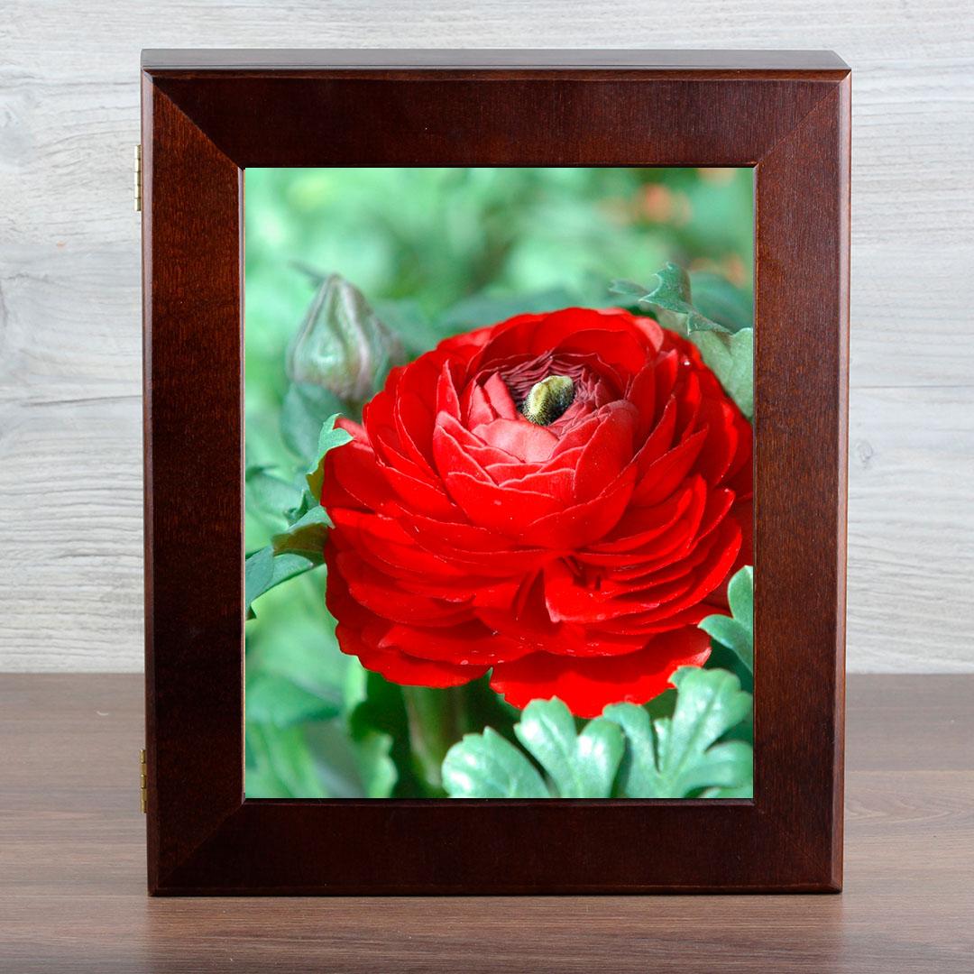 Ключница Город Подарков Красные цветы, цвет: венге ez combs заколка изи комбс одинарная цвет черный зио красные цветы
