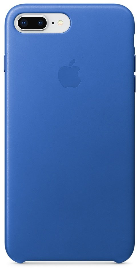 Apple Leather Case чехол для iPhone 7 Plus/8 Plus, Electric Blue недорого