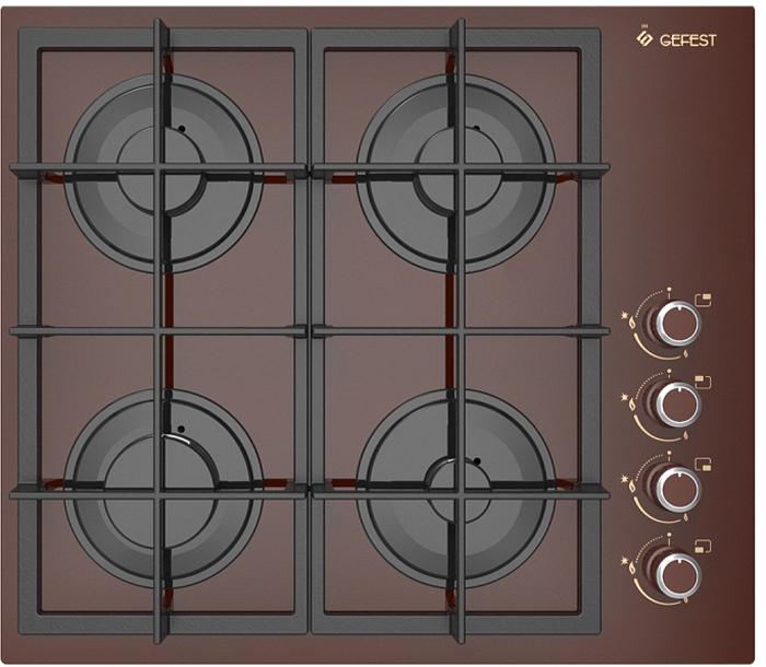 Варочная панель Gefest СВН 2230 К4, газовая, встраиваемая, коричневый Gefest