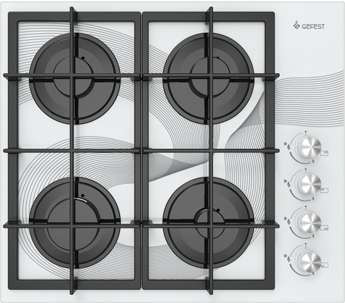 Варочная панель Gefest СГ СВН 2230 К28, газовая, белый49965866Газовая варочная поверхность Gefest СВН 2230 К28 привлекает внимание белоснежной расцветкой, благодаря чему гармонично впишется в любую кухню. Устройство оснащено четырьмя конфорками, среди которых имеются 2 стандартные на 1,75 кВт, 1 экономичная на 1 кВт и 1 с повышенной мощностью до 3 кВт. Крупногабаритный товар.